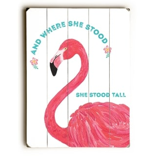 She Stood Tall - Multi  Planked Wood Wall Decor by Cheryl Overton