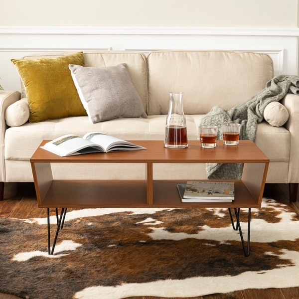 Coffee Table Angled Legs: Shop Carson Carrington Halvoreby Mid-century Angled Coffee