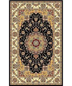 Safavieh Lyndhurst Traditional Oriental Black/ Ivory Rug (3'3 x 5'3)