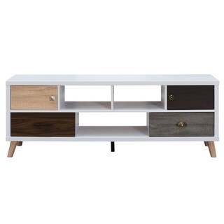 Furniture of America Kristen Mid-Century Modern Multicolored Storage TV Stand (60-inch)