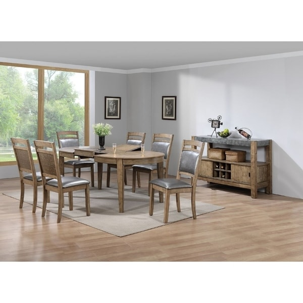 Shop Murcja 7 Piece Contemporary Dining Set In Rustic Wood