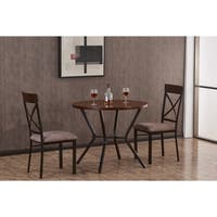 Porch & Den Dawson Wilson Dark Metal Mixed Media 3-piece Dining Set
