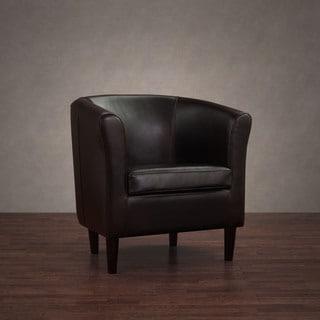 Tovano Dark Brown Leather Arm Chair