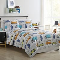 Kids Zone Casey Cars Quilt Set