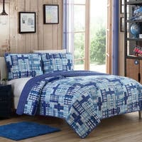Kids Zone Colin Plaid Quilt Set