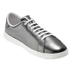 Women's Cole Haan GrandPro Tennis Sneaker Metallic Gunmetal Leather