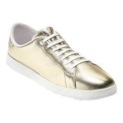 Women's Cole Haan GrandPro Tennis Sneaker Metallic Soft Gold Leather