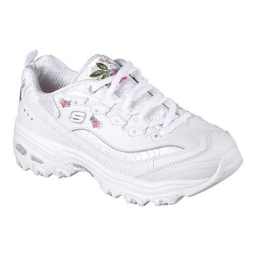 women 39 s skechers d 39 lites bright blossoms sneaker white free shipping today overstock 25150302. Black Bedroom Furniture Sets. Home Design Ideas