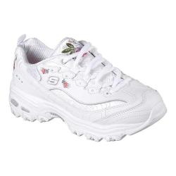 Women's Skechers D'Lites Bright Blossoms Sneaker White