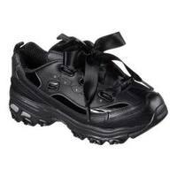 Women's Skechers D'Lites Latest Trend Sneaker Black/Black