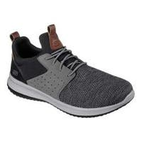 Men's Skechers Delson Camben Slip-On Sneaker Black/Gray