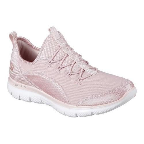 the latest d0249 161e8 Shop Women s Skechers Flex Appeal 2.0 Mixed Media Bungee Lace Sneaker Light  Pink - Free Shipping Today - Overstock - 19114094