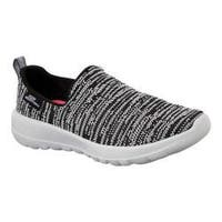 Women's Skechers GOwalk Joy Slip-On Walking Shoe Black/White