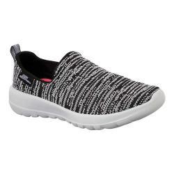 Women's Skechers GOwalk Joy Slip-On Walking Shoe Black/White