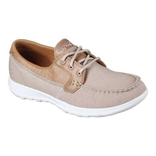 a90030da Shop Women's Skechers GOwalk Lite Coral Boat Shoe Natural - On Sale - Free  Shipping Today - Overstock - 19114144