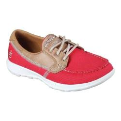 Women's Skechers GOwalk Lite Coral Boat Shoe Red (More options available)