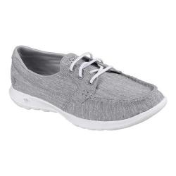 Women's Skechers GOwalk Lite Isla Boat Shoe Gray