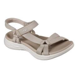 Women's Skechers On the GO 600 Brilliancy Ankle Strap Sandal Natural - Thumbnail 0