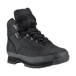 Men's Timberland Euro Hiker Shoe Black Cordura Nylon