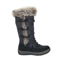 Women's Wanderlust Helina Waterproof Snow Boot Black/Black Waterproof Suede/Fabric