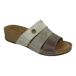 Women's Wanderlust Slide Sandal Taupe Multi Leather (Option: Euro Women's 37 (US Wms 6-7) W (Wide))