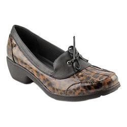 Women's Wanderlust Weather or Not Rain Shoe Black/Leopard PU/Fabric (More options available)