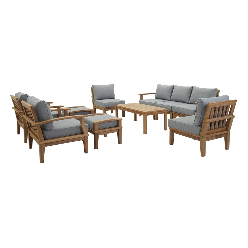 Pier 10 Piece Outdoor Patio Teak Set