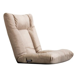 BONZY Floor Chair Foldable Gaming Chair Adjustable Floor Chair- Camel