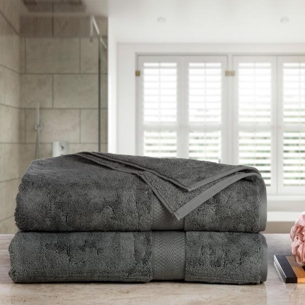 Aerosoft Premium Combed Cotton 710 GSM 2 Piece Oversized Bath Sheets