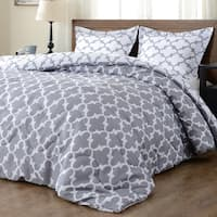 Downluxe 3-Piece Lightweight Reversible Down Alternative Comforter Set