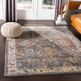 "Kailash Traditional Charcoal Area Rug - 7'10"" x 10'3"""