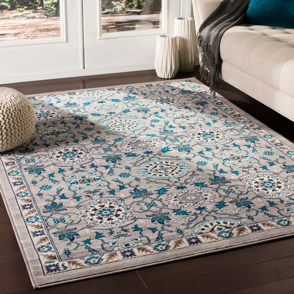 """Argus Traditional Taupe Area Rug - 7'10"""" x 10'3"""""""