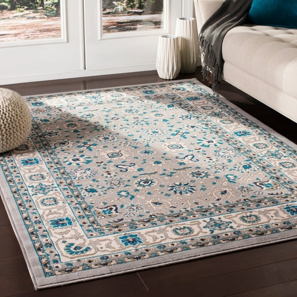"Odell Traditional Medium Grey Area Rug - 7'10"" x 10'3"""