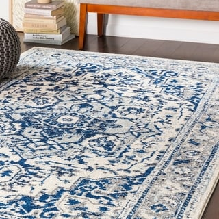 "Arienne Traditional Navy Area Rug - 7'10"" x 10'3"""