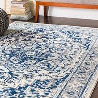 """Arienne Traditional Navy Area Rug - 7'10"""" x 10'3"""""""
