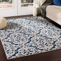 "Fulton Transitional Navy Area Rug - 7'10"" x 10'3"""