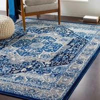"""Brielle Traditional Navy Area Rug - 7'10"""" x 10'3"""""""