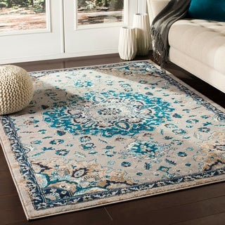 "Ruba Traditional Medium Grey Area Rug - 7'10"" x 10'3"""