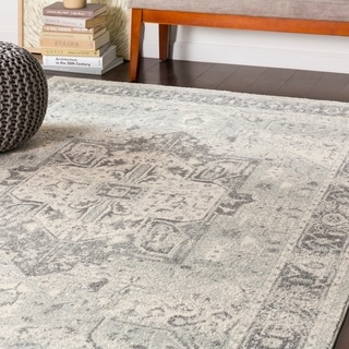 "Brielle Traditional Medium Grey Area Rug - 7'10"" x 10'3"""