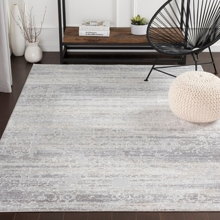 "Rachana Distressed Traditional Silver Grey Area Rug - 7'10"" x 10'3"""