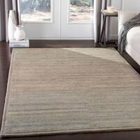 Suhail Handmade Casual Blue & Beige Wool Area Rug - 8' x 10'