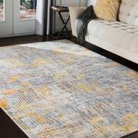 "Gerrard Orange & Yellow Abstract Area Rug - 7'10"" x 10'3"""