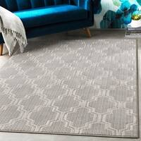 """Yvonne Transitional Trellis Charcoal Area Rug - 7'10"""" x 10'3"""""""