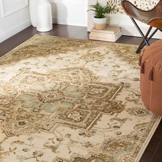 "Demetria Traditional Beige Area Rug - 6'7"" x 9'6"""