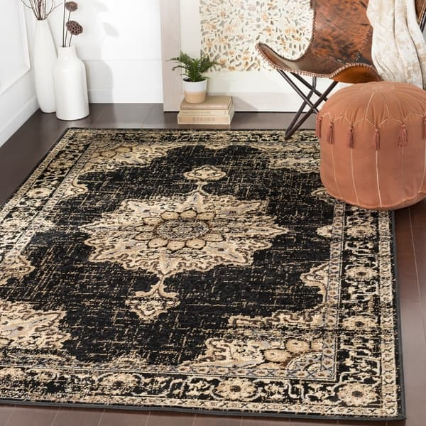 Shop Sheridan Traditional Black Area Rug 8 10 X 12 9 Overstock 22402195