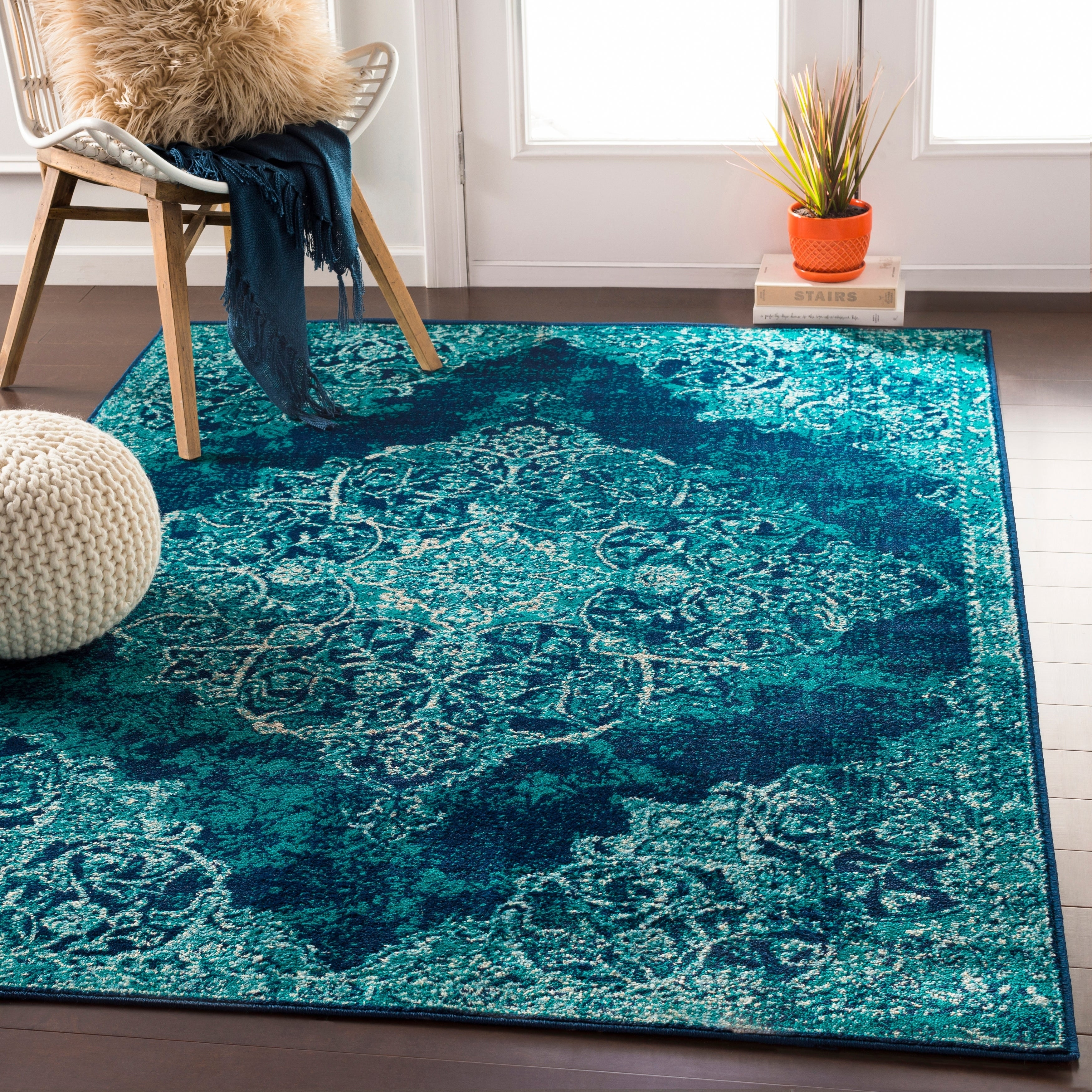 Picture of: Terenzio Traditional Teal Accent Rug Overstock 22402207