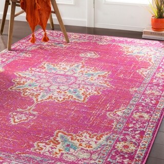 "Sheridan Traditional Fuchsia Area Rug - 8'10"" x 12'2"""