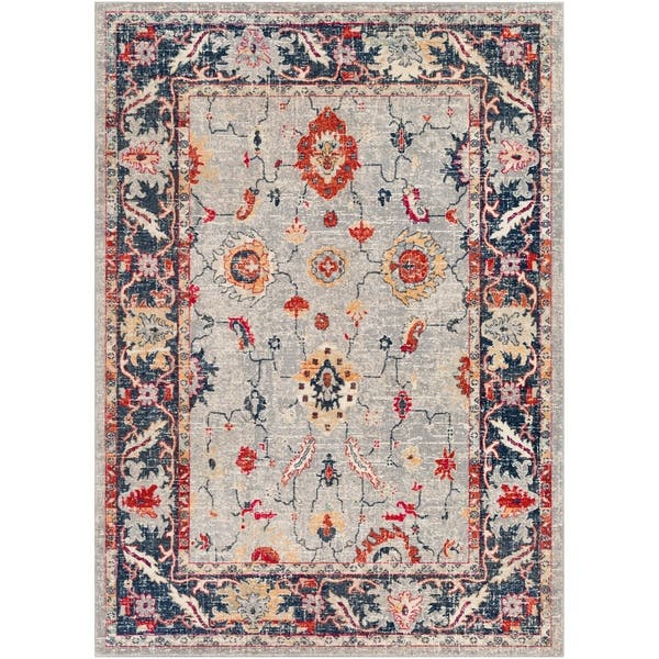 Chauncey Grey Red Updated Traditional Area Rug 7 10 X 10 3 On Sale Overstock 22402297