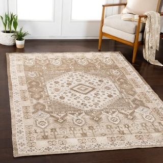 """Isidoro Brown Updated Traditional Area Rug - 7'10"""" x 10'3"""""""