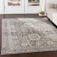 "Marte Black Updated Traditional Area Rug - 7'10"" x 9'10"""